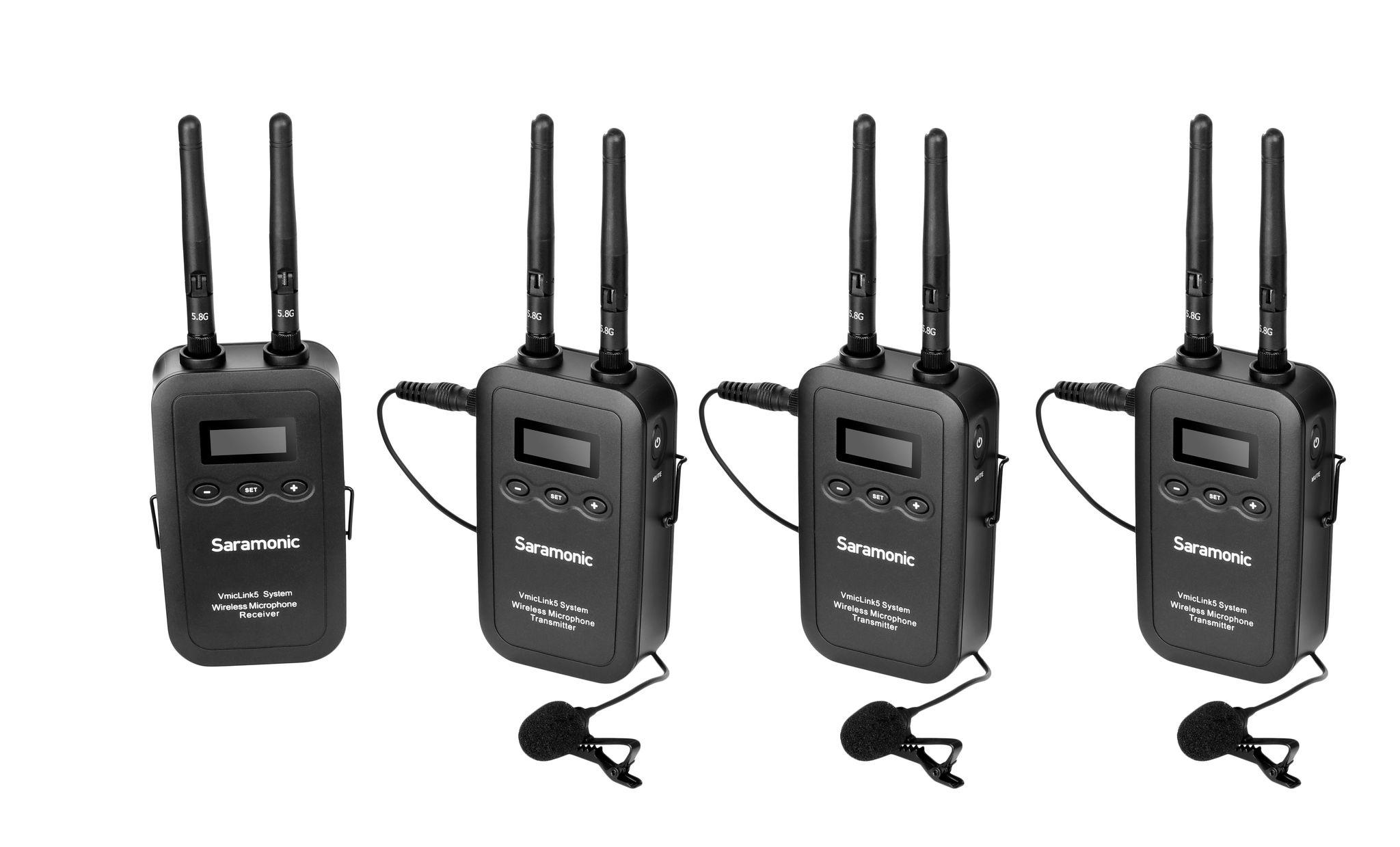 Saramonic VmicLink5 Wireless Lavalier Mic System (3 Transmitters)