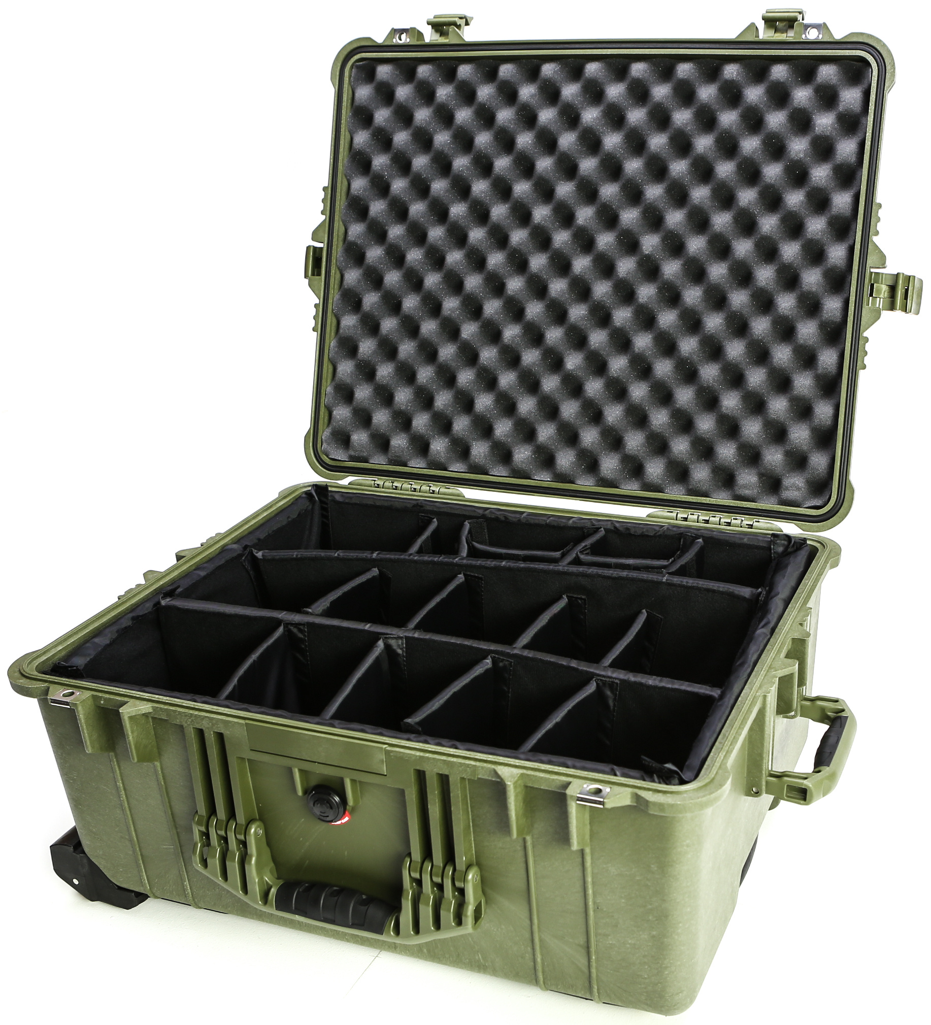 Pelican 1614 Case with Padded Dividers (Olive Drab Green)