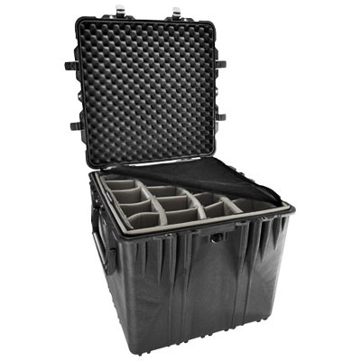 Pelican 0340 Cube Case with Padded Dividers (Black)