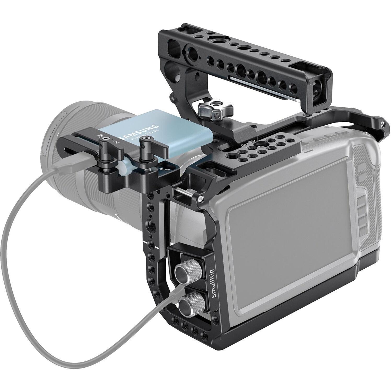 SmallRig Full Cage & NATO Top Handle Kit for Blackmagic Pocket Cinema Camera 6K/4K