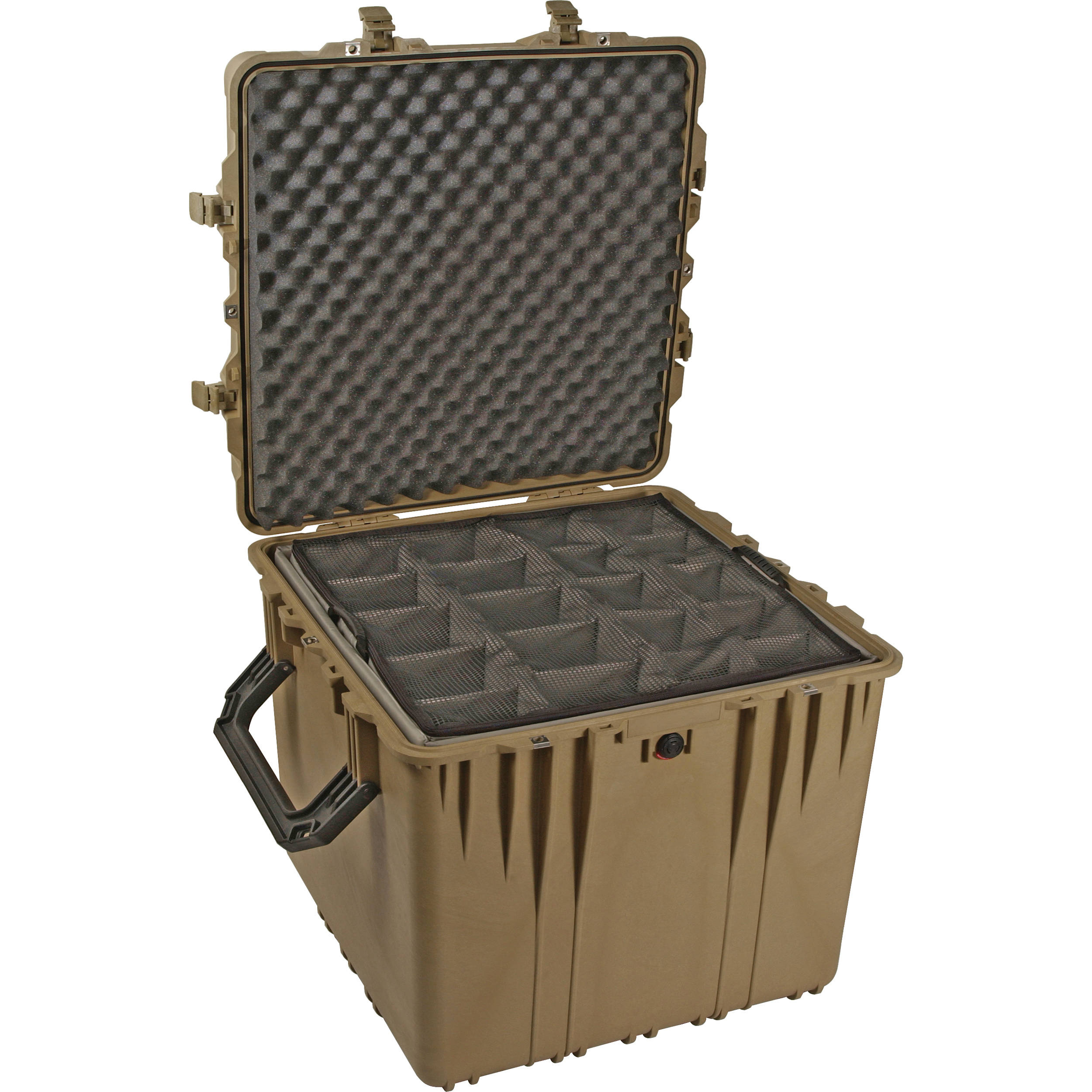 Pelican 0340 Cube Case with Padded Dividers (Desert Tan)