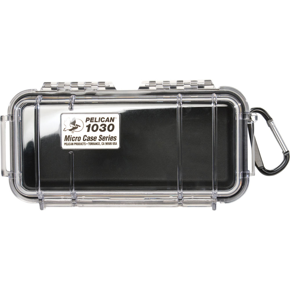 Pelican 1030 Micro Case (Black/Clear)
