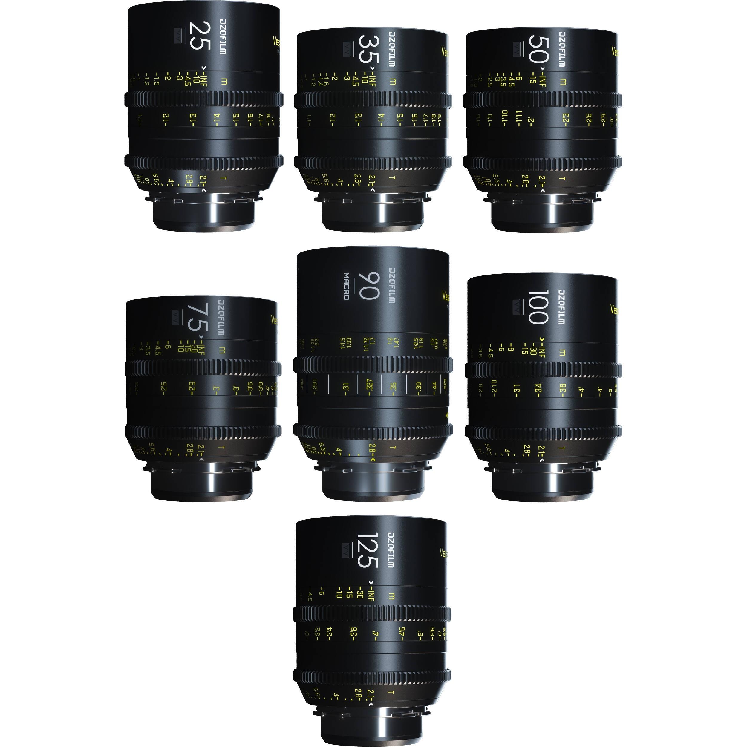 DZOFilm VESPID 7-Lens Kit B (PL Mount)