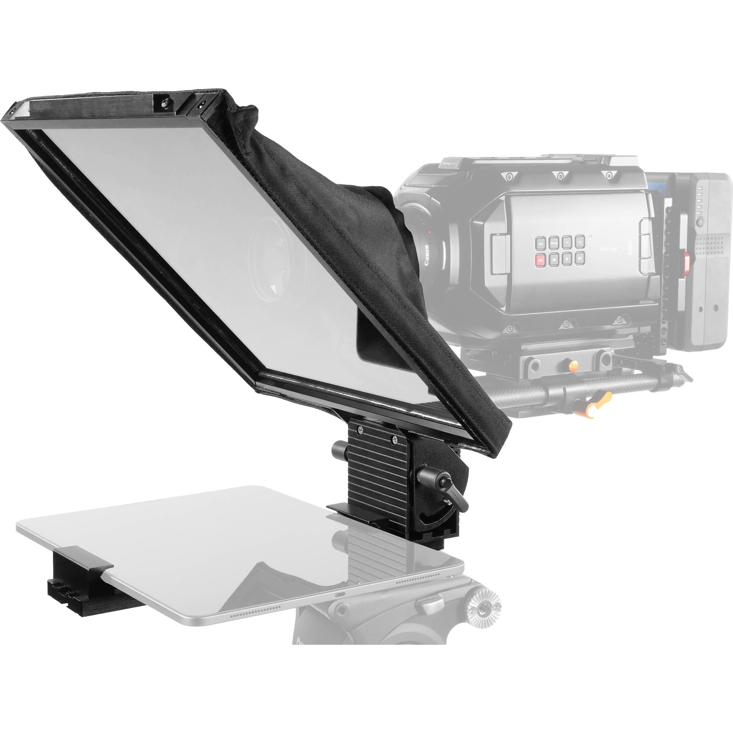"""Prompter People Prompter Pal PAL12-iPAD-15mm Teleprompter w/ Cradle, 12 x 12"""", and 15mm Rod Block"""