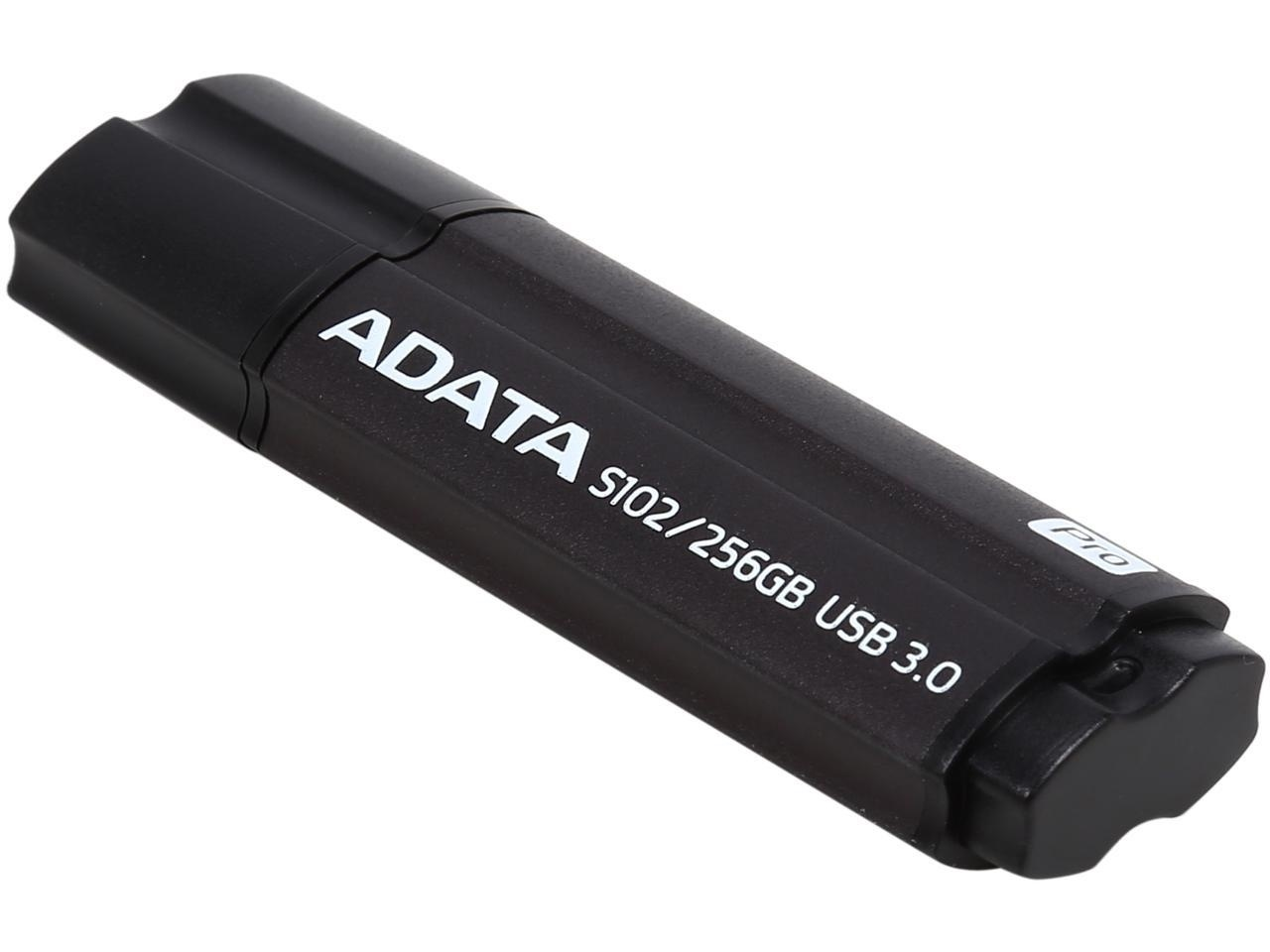 ADATA S102 Pro Advanced USB 3.2 Flash Drive (256GB, Grey)