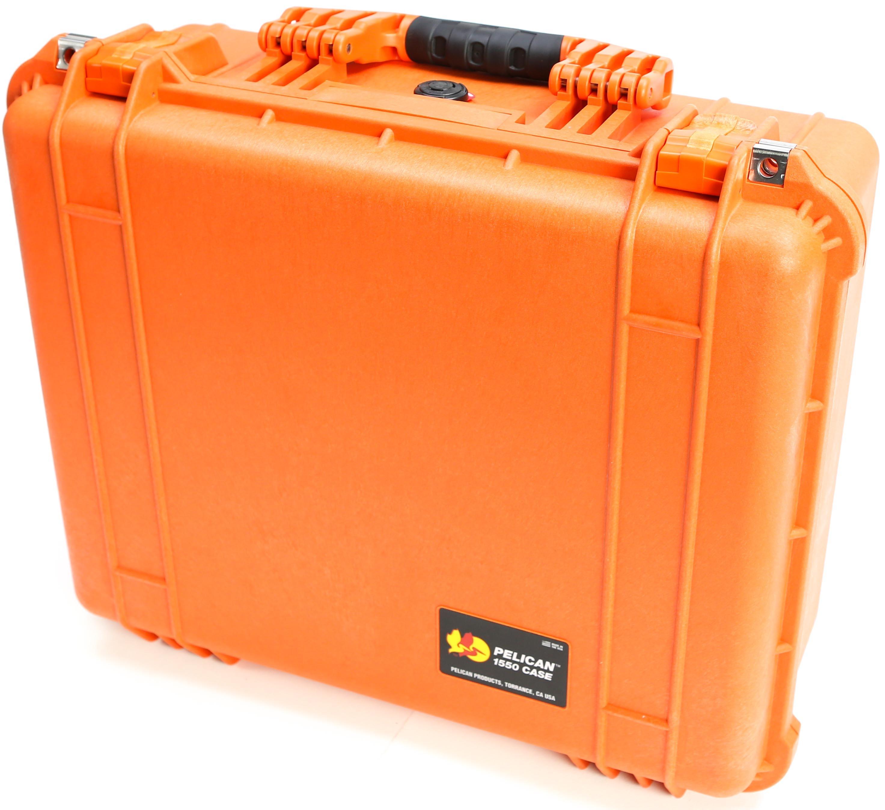 Pelican 1550 Case without Foam (Orange)