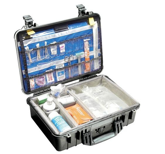 Pelican 1500EMS Case with Dividers (Black)
