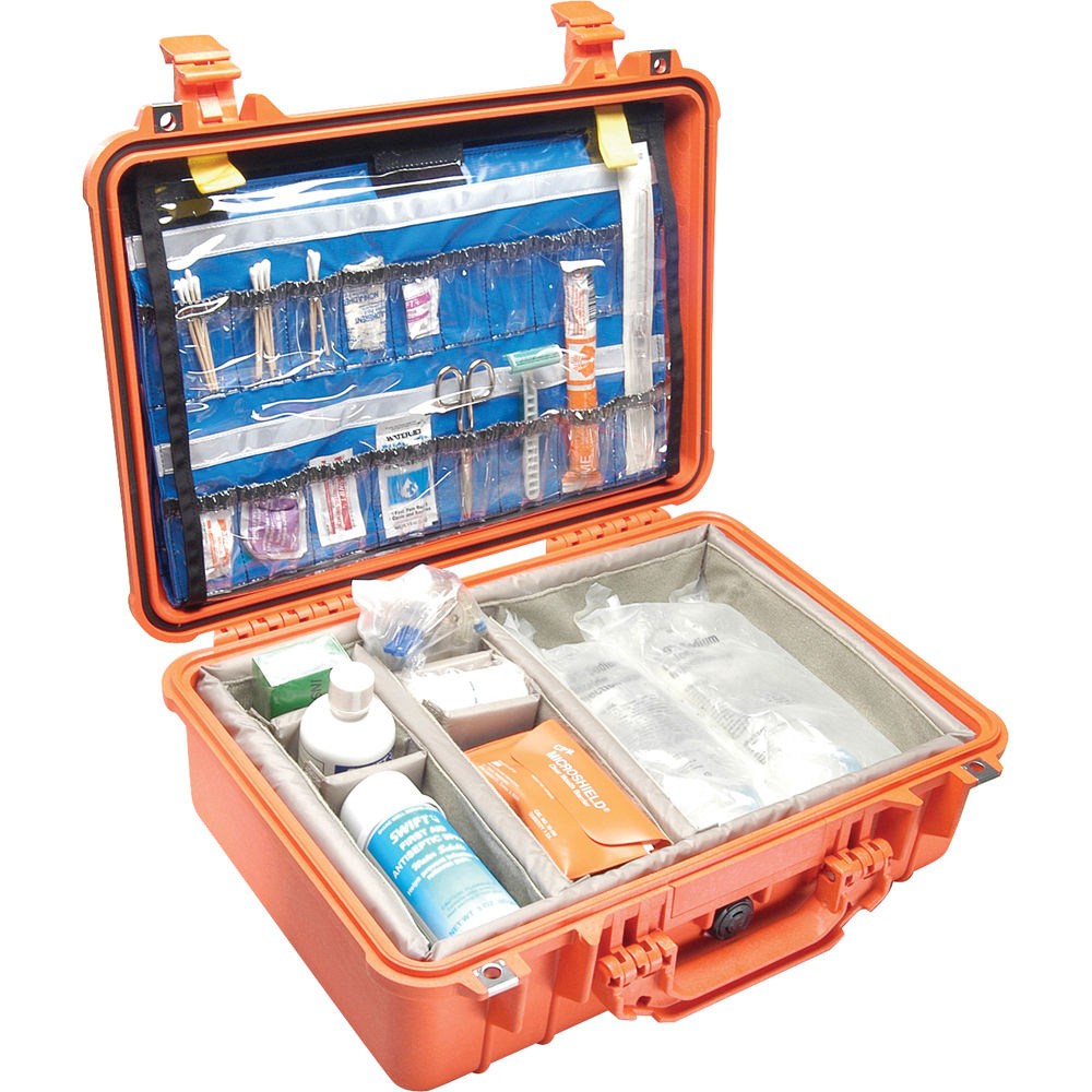 Pelican 1500EMS Case with Dividers (Orange)