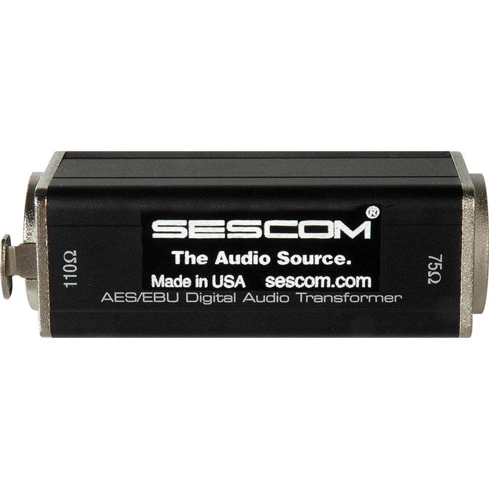 Sescom XLRF to 75 Ohm BNC Female AES/EBU Impedance Transformer