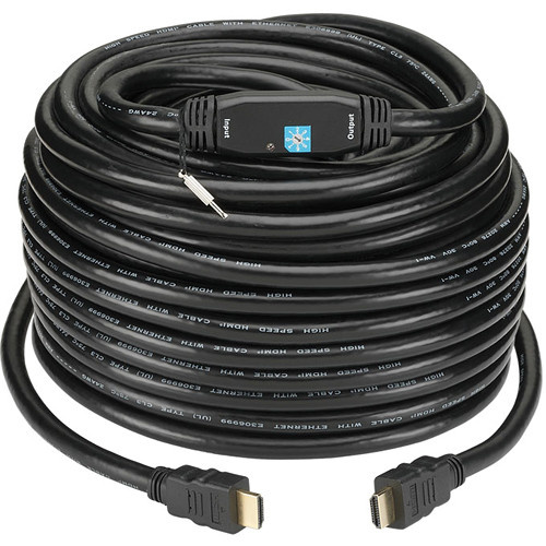 KanexPro High Resolution HDMI Cable With Built-in Signal Booster - 15.2m (50ft)