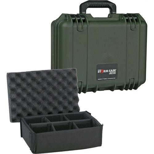 Pelican iM2100 Storm Case with Padded Dividers (Olive Drab Green)