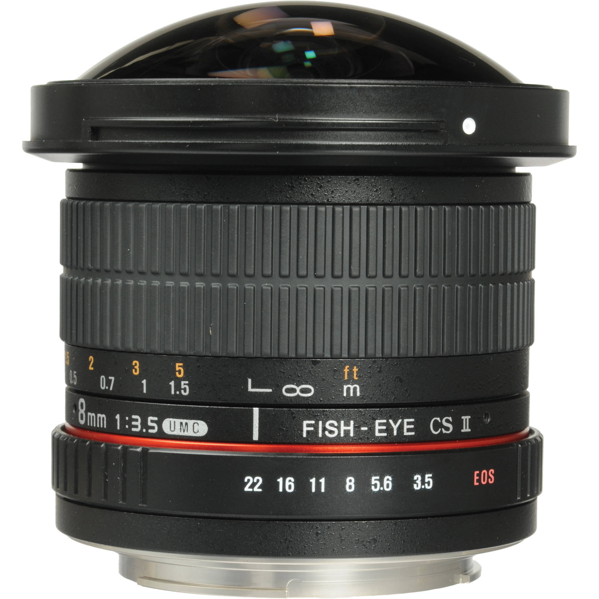 Samyang 8mm f/3.5 HD Fisheye Lens with Removable Hood (Canon Mount)