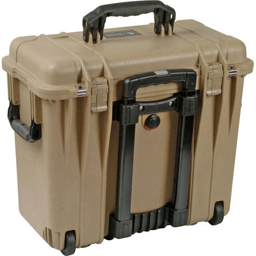 Pelican 1447 Top Loader Case with Office Dividers (Desert Tan)