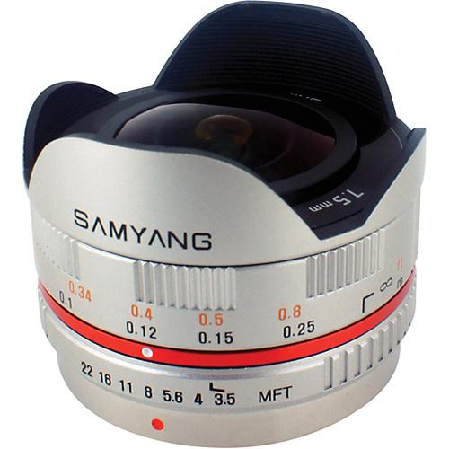 Samyang 7.5mm f/3.5 UMC Fisheye MFT Lens (Silver)