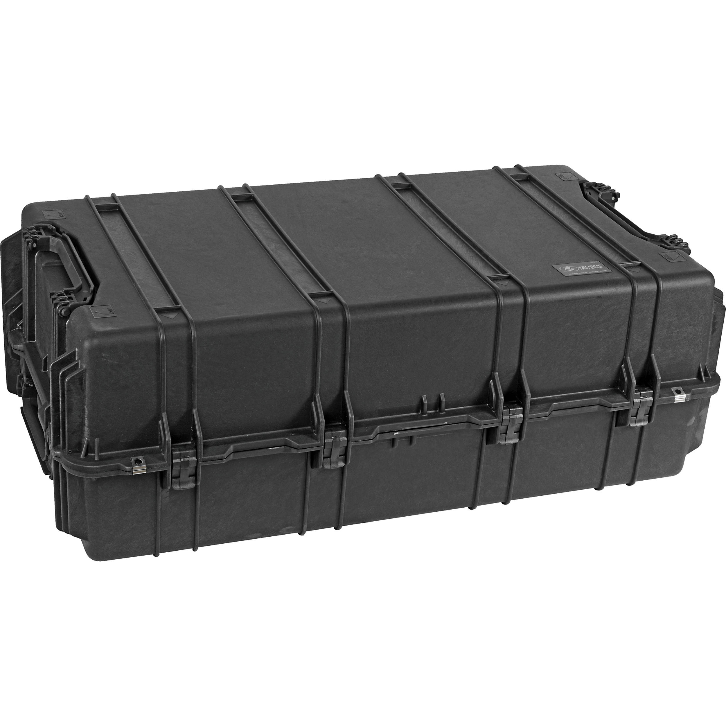 Pelican 1780W HL Long Case with Rigid Polyethylene Tray (Black)