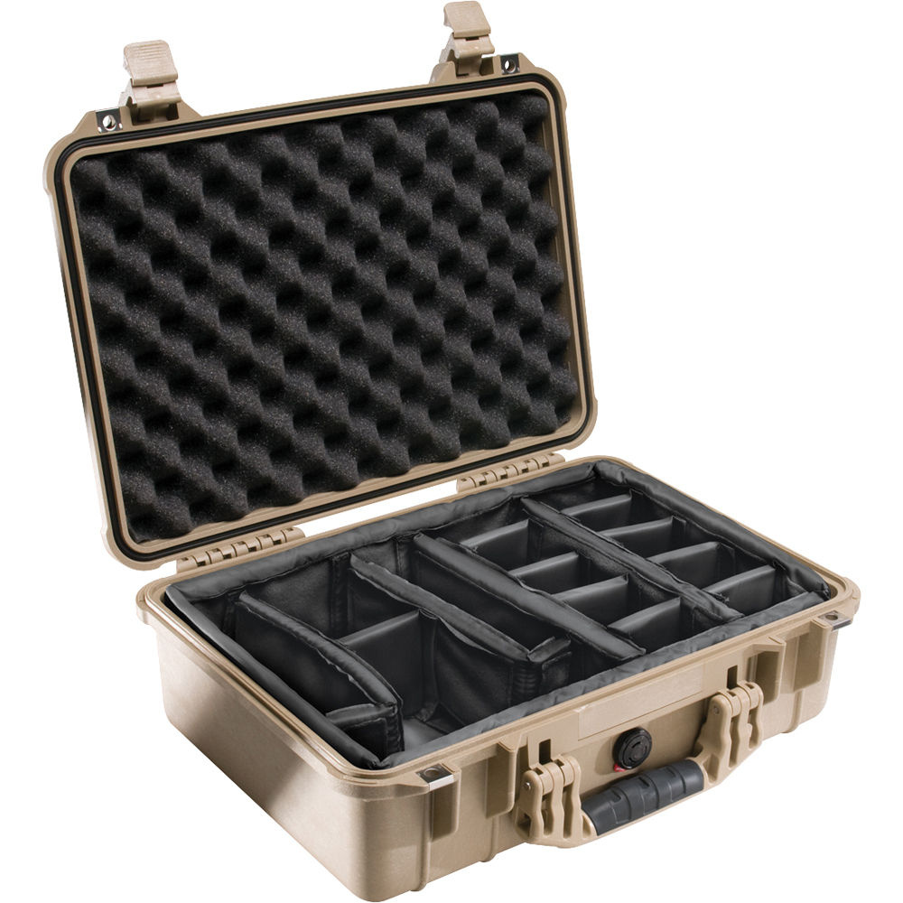 Pelican 1504 Case with Dividers (Desert Tan)