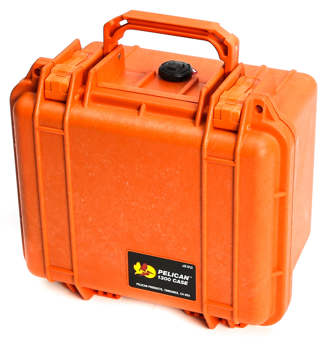 Pelican 1300 Case without Foam (Orange)