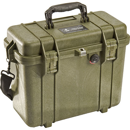 Pelican 1430 Top Loader Case without Foam (Olive Drab Green)