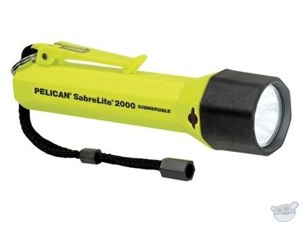 Pelican Sabrelite 2000 Flashlight 3 'C' Xenon Lamp - Rated up to 3.28' (Yellow)