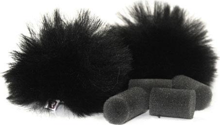 Rycote - Black Lavalier Windjammer Pair