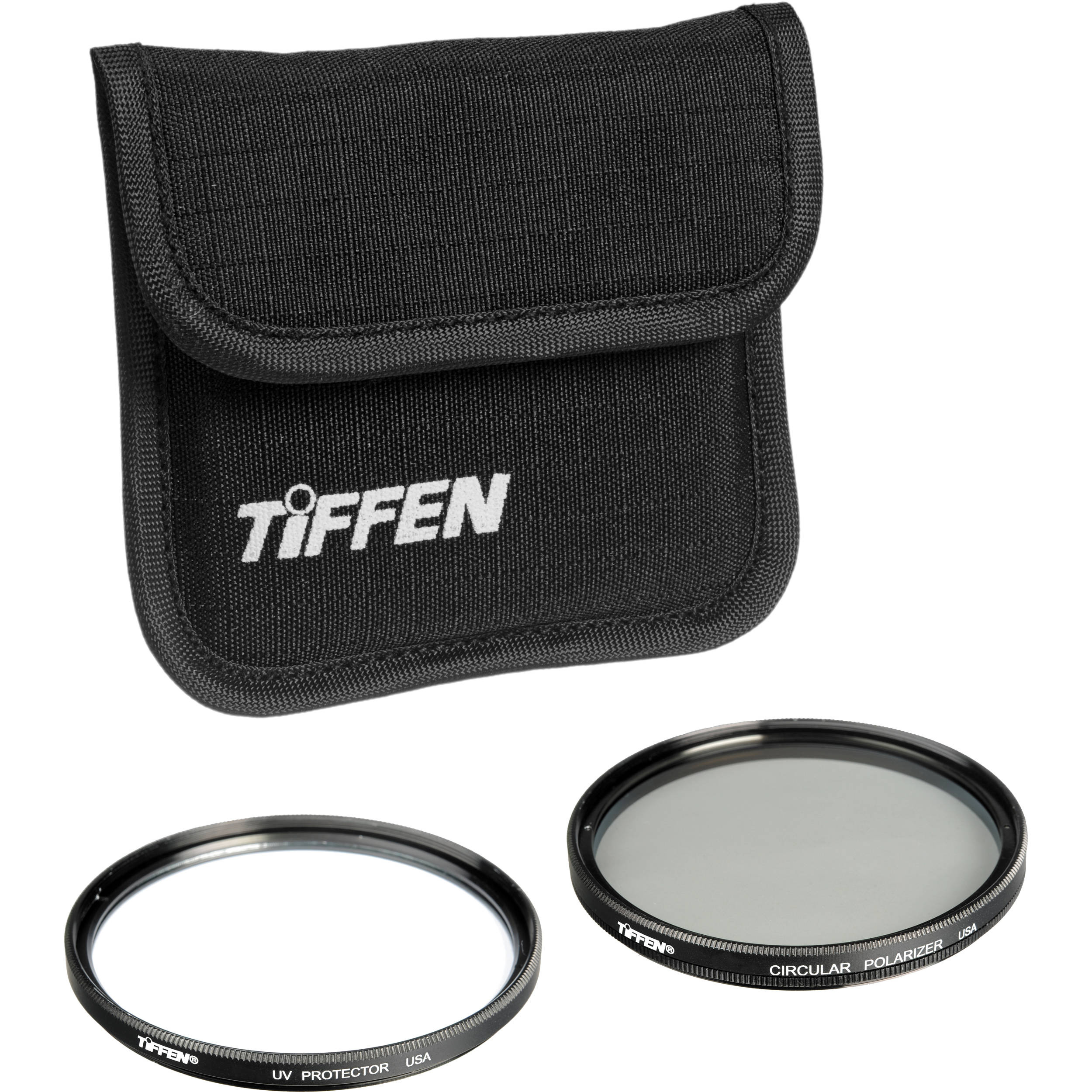Tiffen 52mm Photo Twin Pack (UV Protection and Circular Polarizing Filter)