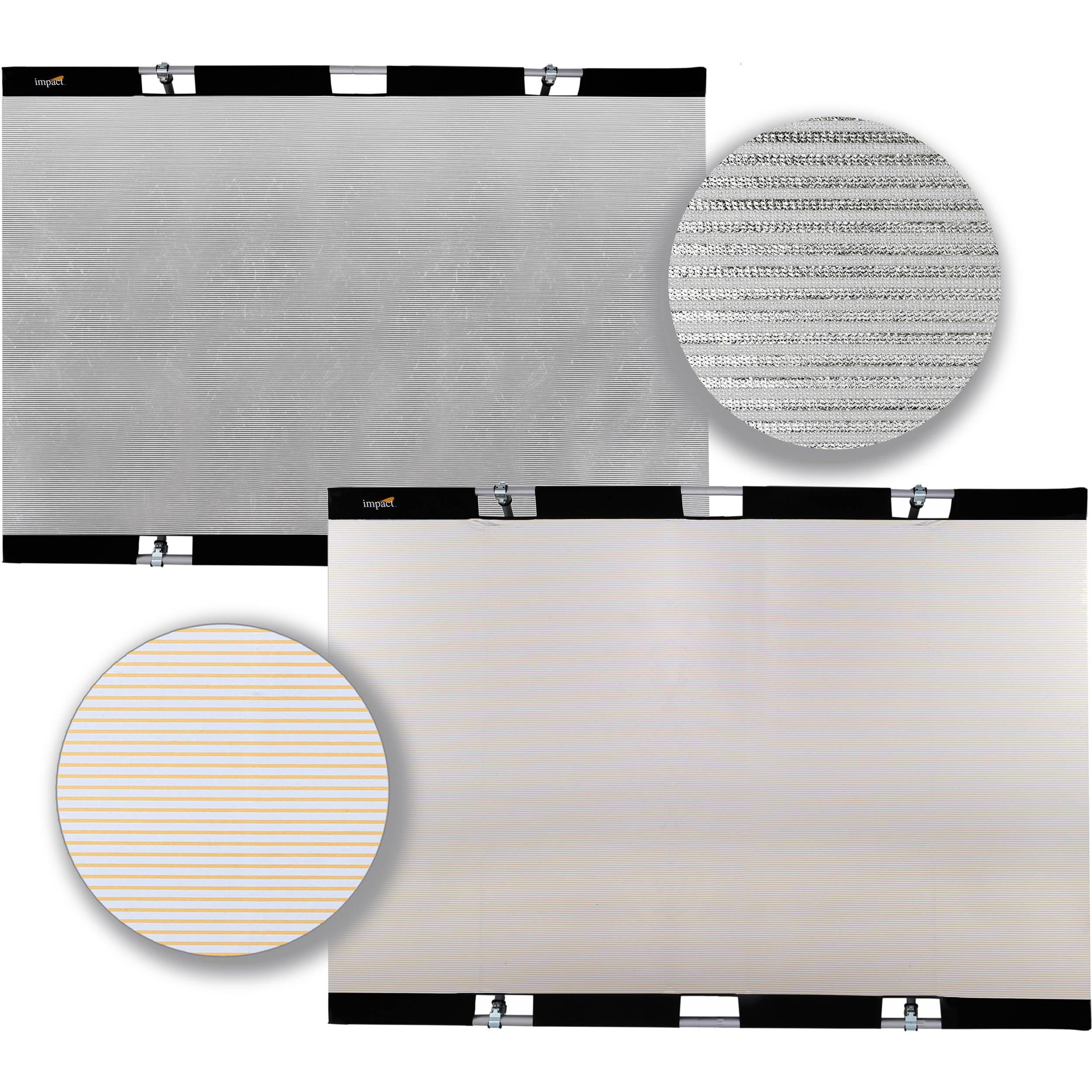 "Impact Panel Frame Reflector Kit - Zebra Gold / Zebra Silver (43 x 67"")"