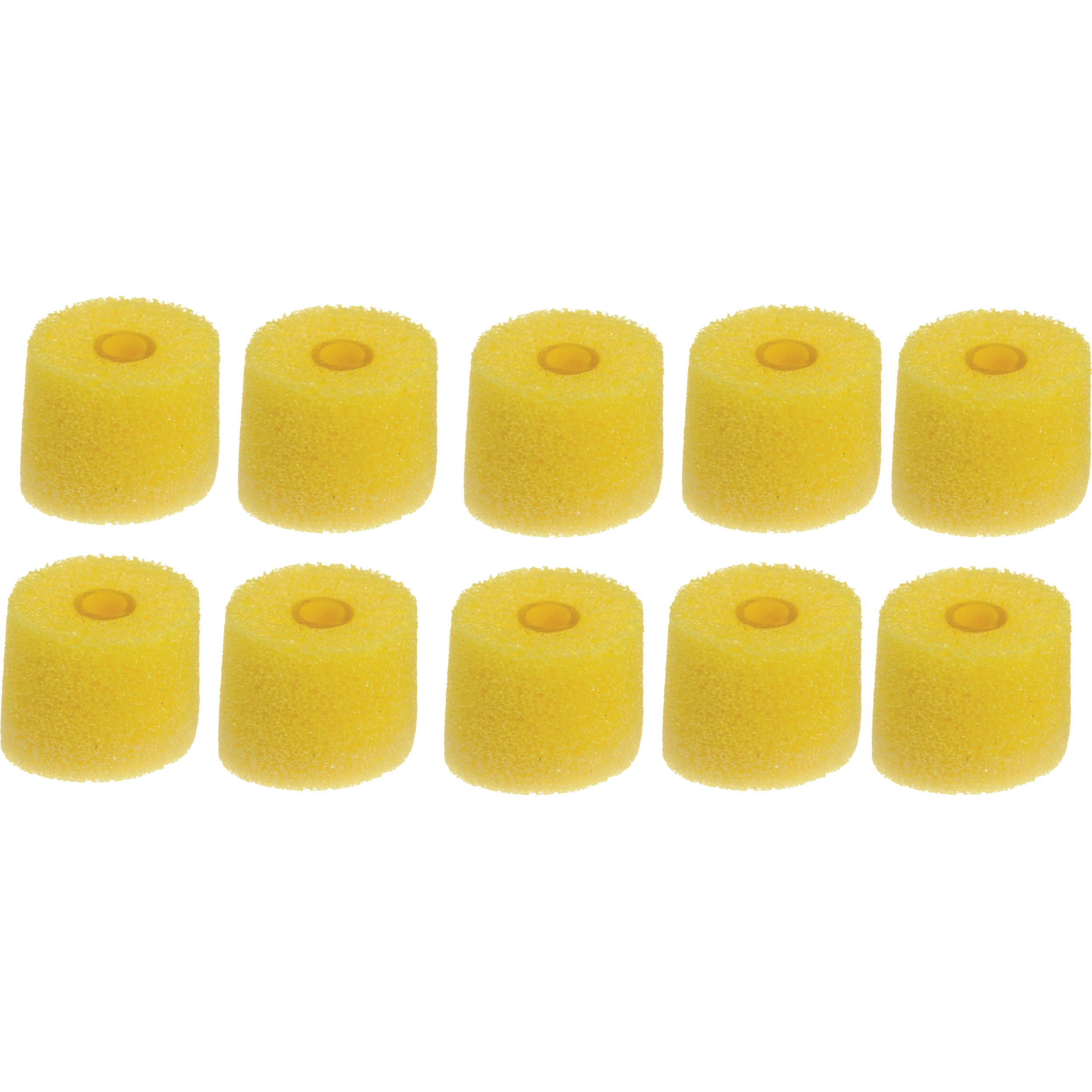 Shure Yellow Foam Sleeves - 5 Pair