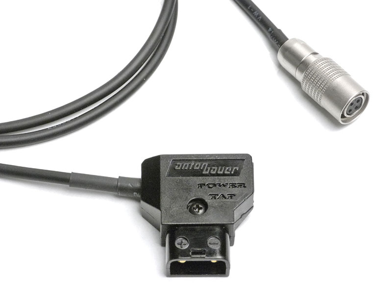 Small HD 3ft DTAP to Hirose Power Cable
