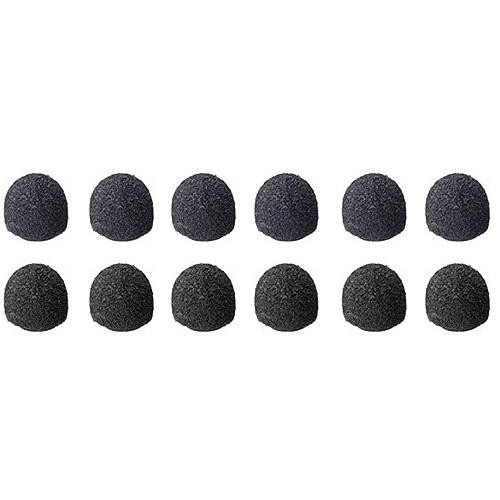 Sony ADC77B - Set of 12 Black Urethane Windscreen Kit for ECM77 Microphone