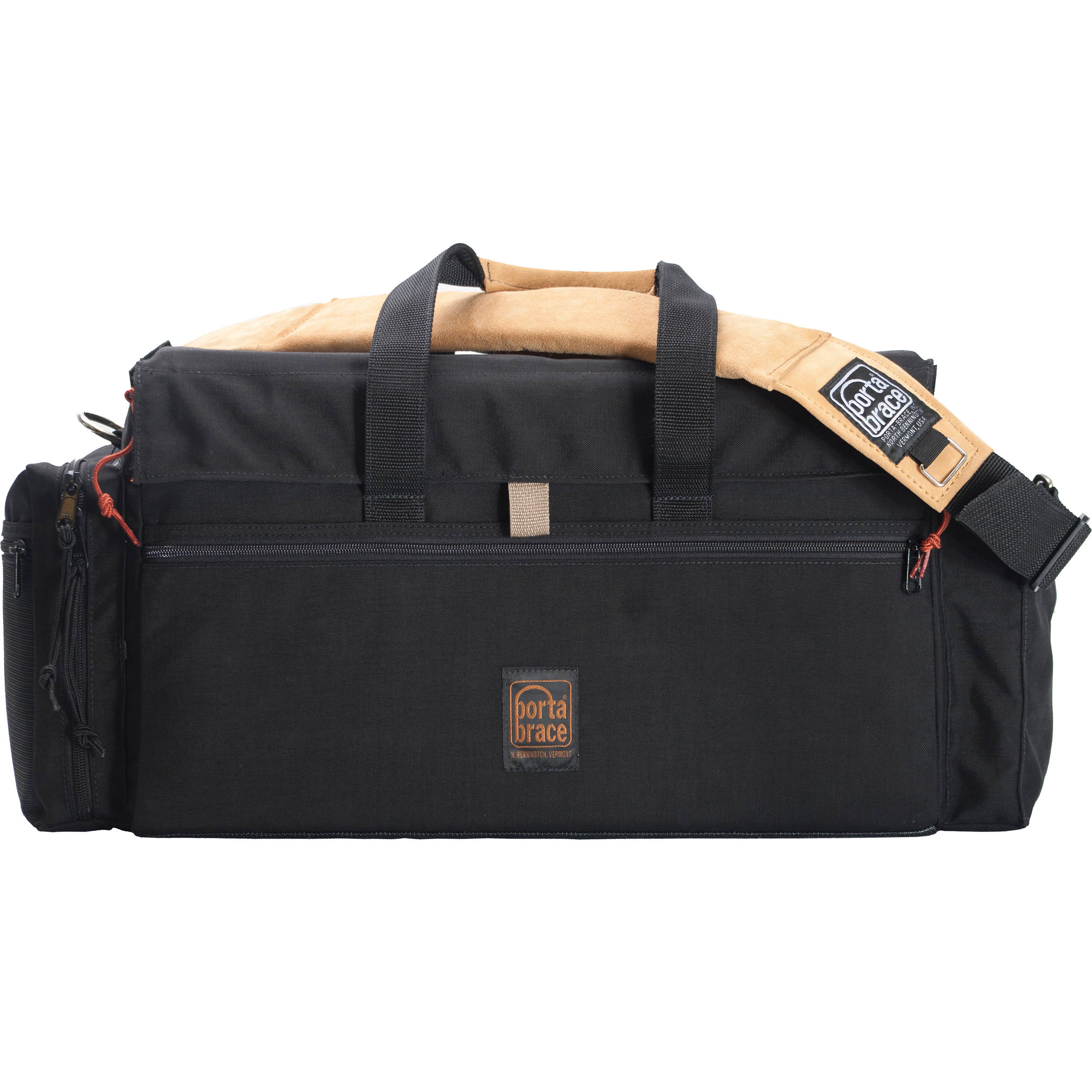 Porta Brace DVO-3R Large Carrying Case (Black with Copper Trim)