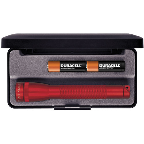 Maglite Mini Maglite 2-Cell AA Flashlight with Presentation Box (Red)