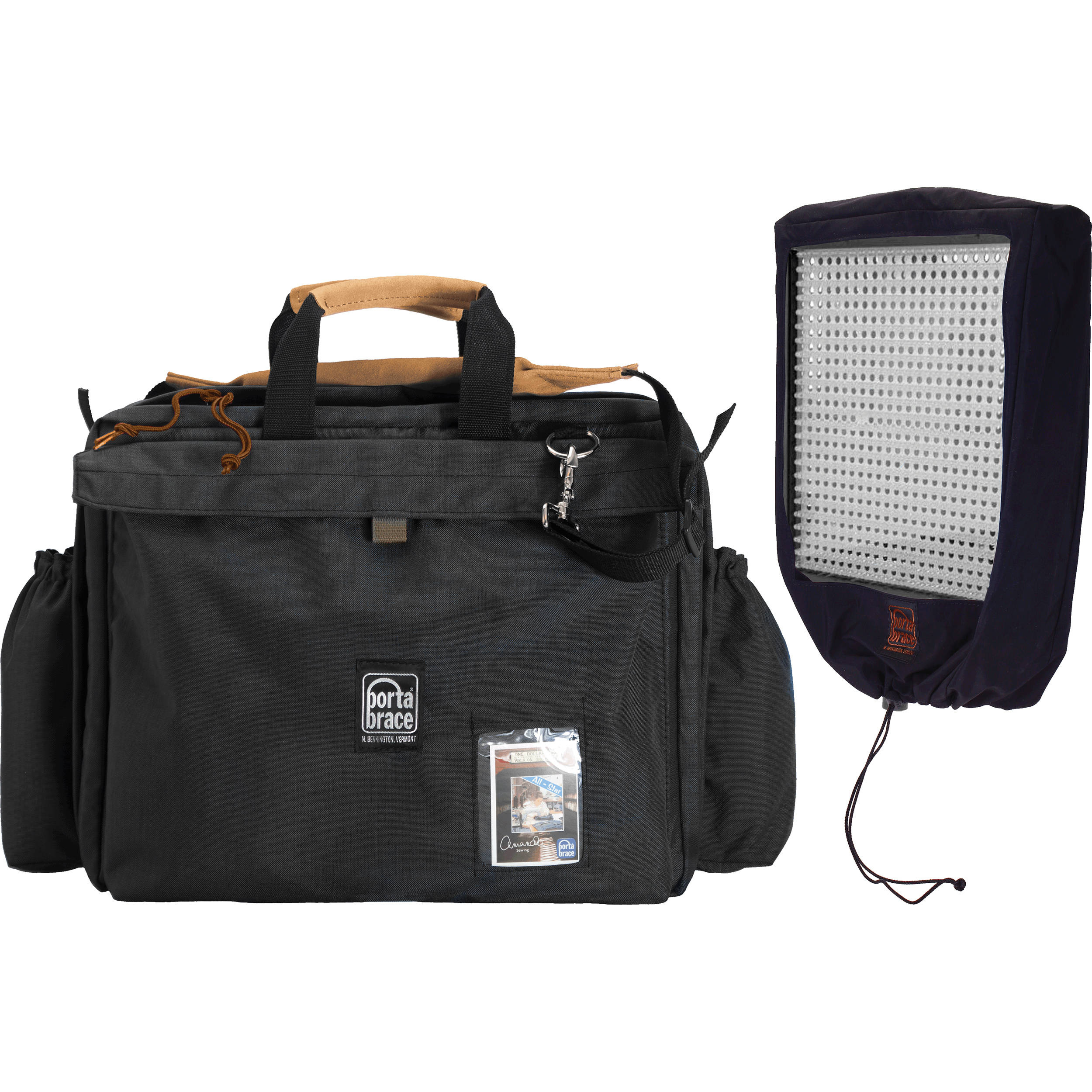 Porta Brace LPB-LED2 Carrying Case for Multiple Lite Panels 1X1 (Midnight Black)