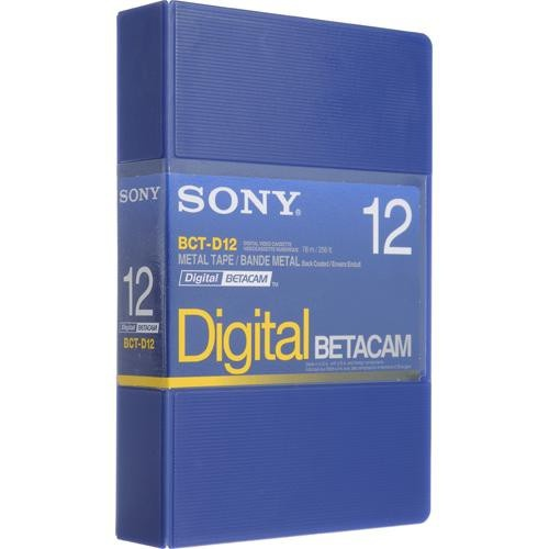 Sony BCT-D12 Digital Betacam Video Cassette (12 Minute)