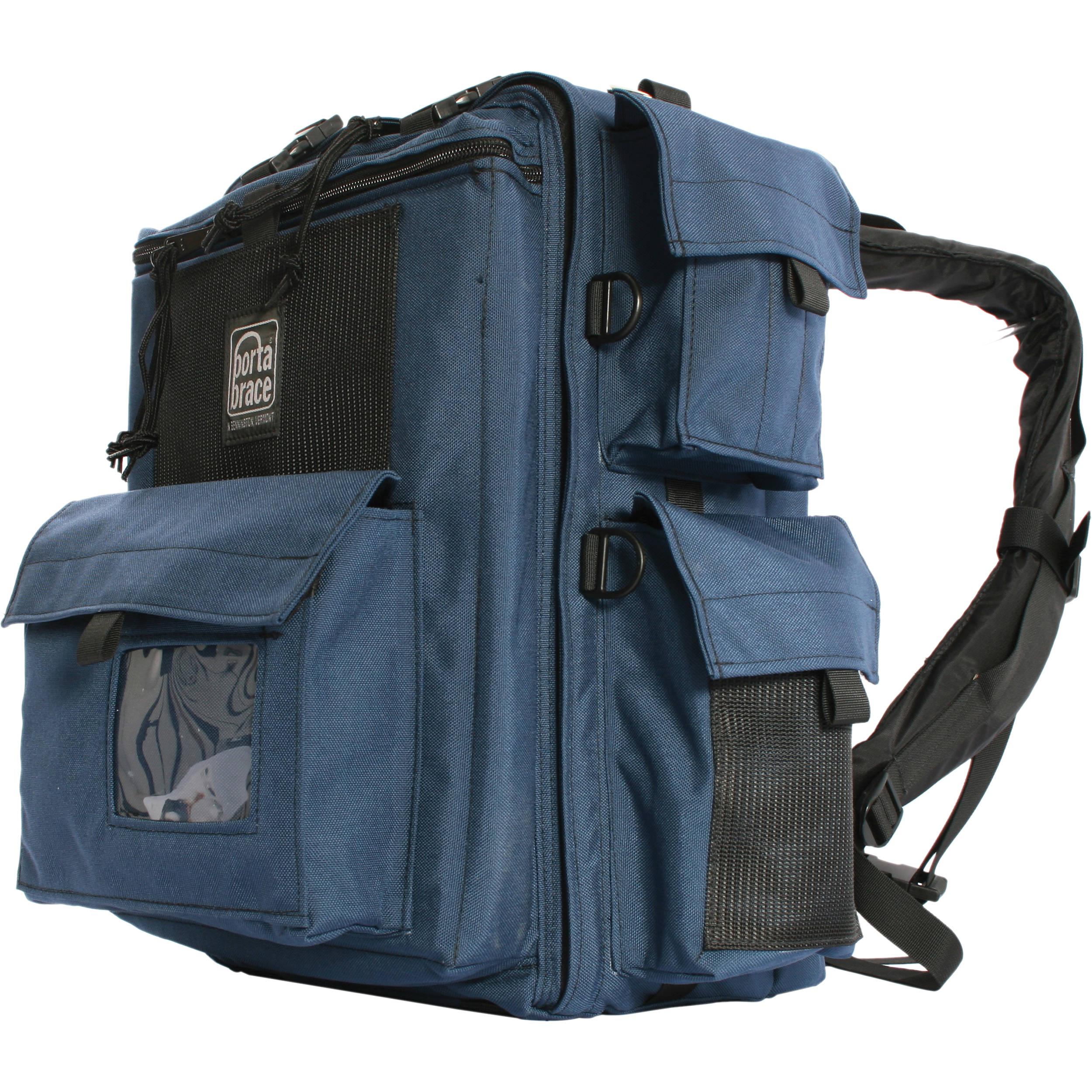 Porta Brace BK-1NQS-M4 Backpack (Blue) with Quick Slick rain cover