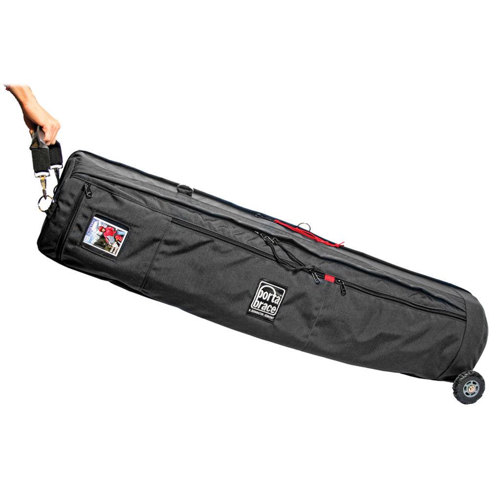 Porta Brace TSB-41BOR Tripod Shellpack with Wheels (Midnight Black)
