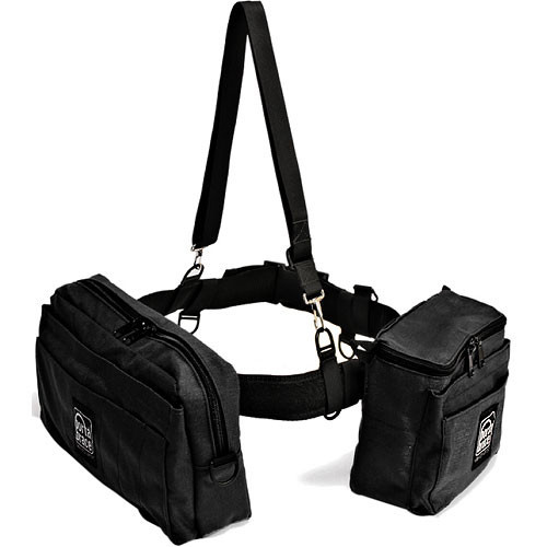 Porta Brace BP-2 Waist Belt Production Pack - for Camcorder Batteries, Tapes and Accessories (Black)