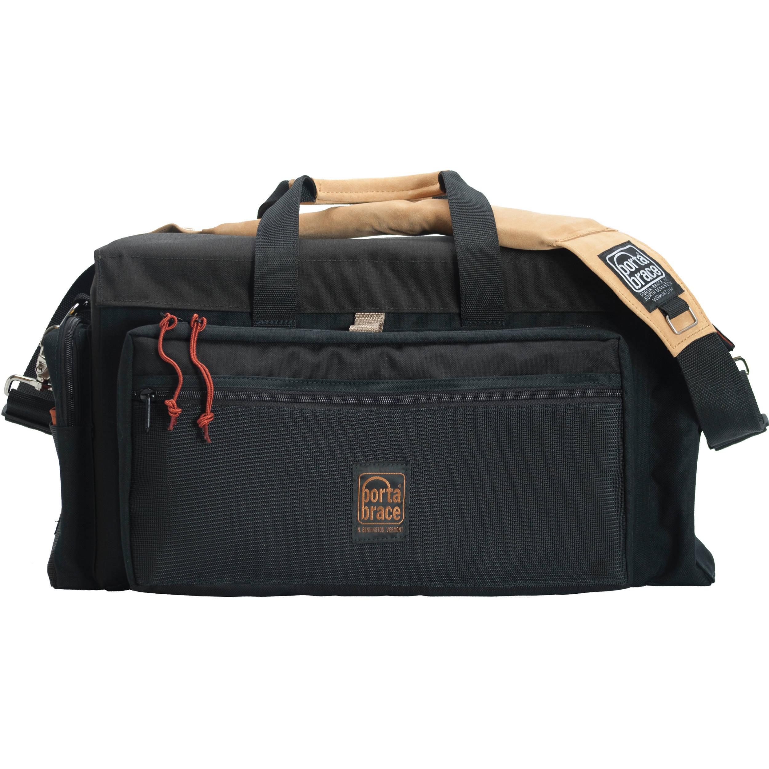 Porta Brace DVO2R-QS-M4 DV Case with QS-M4 Quick Slick Mini Rain Cover (Black with Copper Trim)