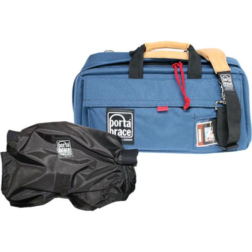 Porta Brace Mini-DV Camera Case with Mini-Quick Slick Rain Cover (Blue)