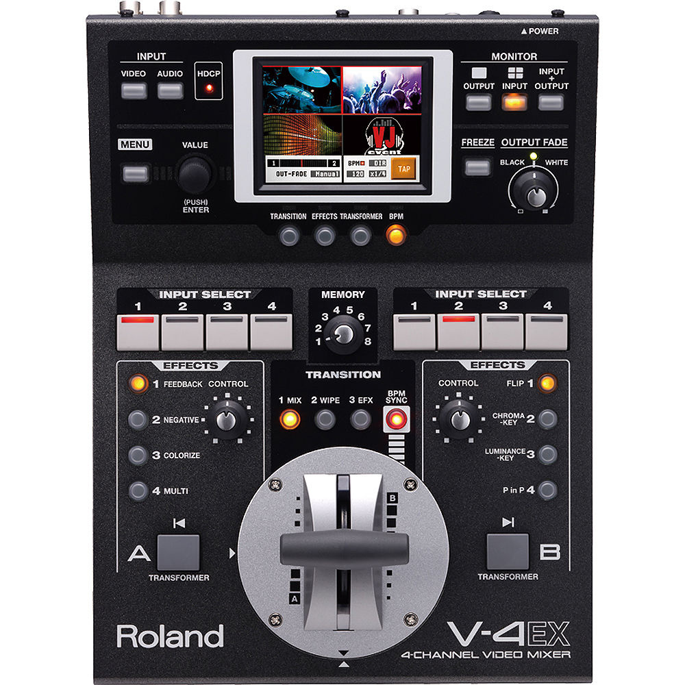 Roland V-4EX Four Channel Digital Video Mixer with Effects