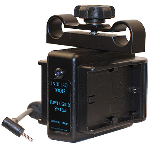 IndiPRO Tools Power Grid System Dual Canon LP-E6 Battery Plate for Pocket Cinema Camera