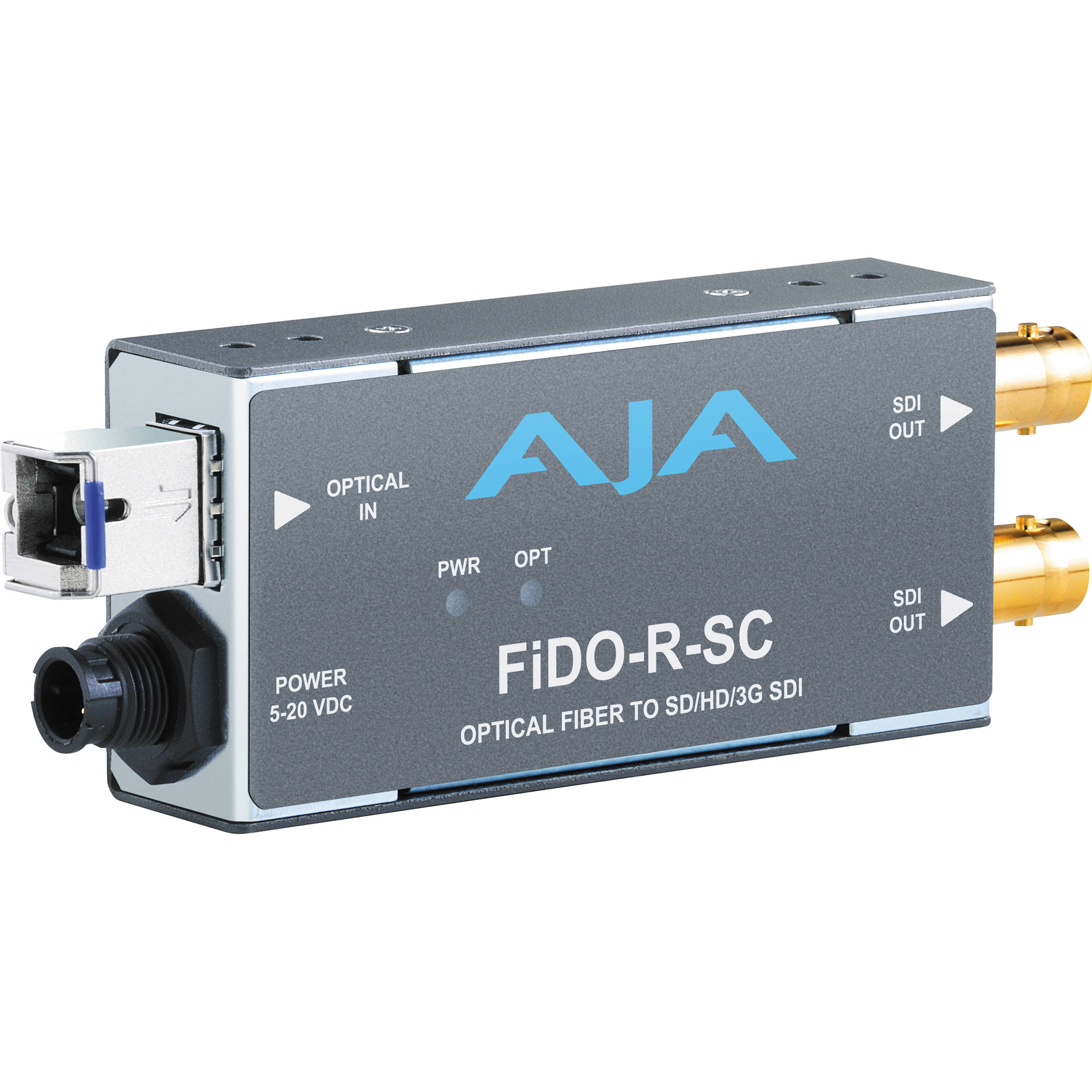 AJA FiDO-R-SC SDI/Optical Fiber Mini-Converter