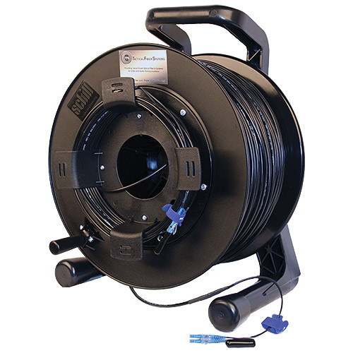 Tactical Fiber Systems Single-Mode Two-Fiber Cable on Reel with LC Connectors (500 ft)