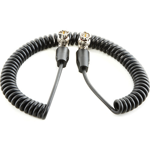 """SHAPE SDI Cable with Right Angle BNC Connectors (Coiled, 20"""")"""