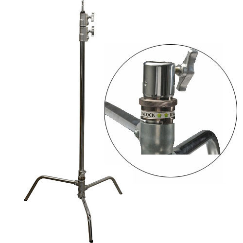 Impact Turtle Base C-Stand - 10.75' (Chrome)