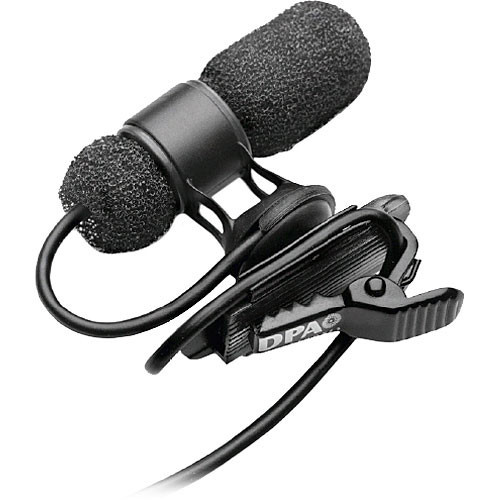 DPA Microphones d:screet mini 4080 Miniature Cardioid Lavalier Mic with Microdot Termination (Black)