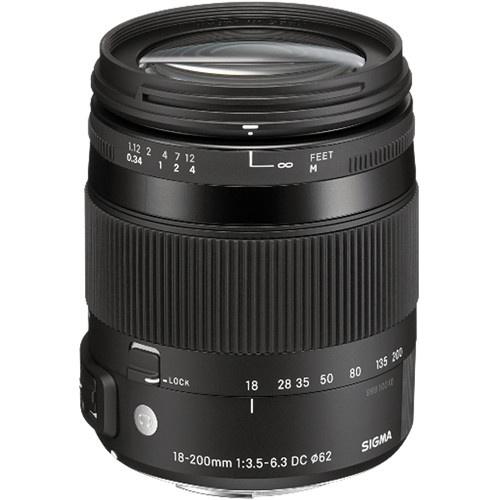 Sigma 18-200mm f/3.5-6.3 DC Macro OS HSM Lens For Nikon Digital Cameras