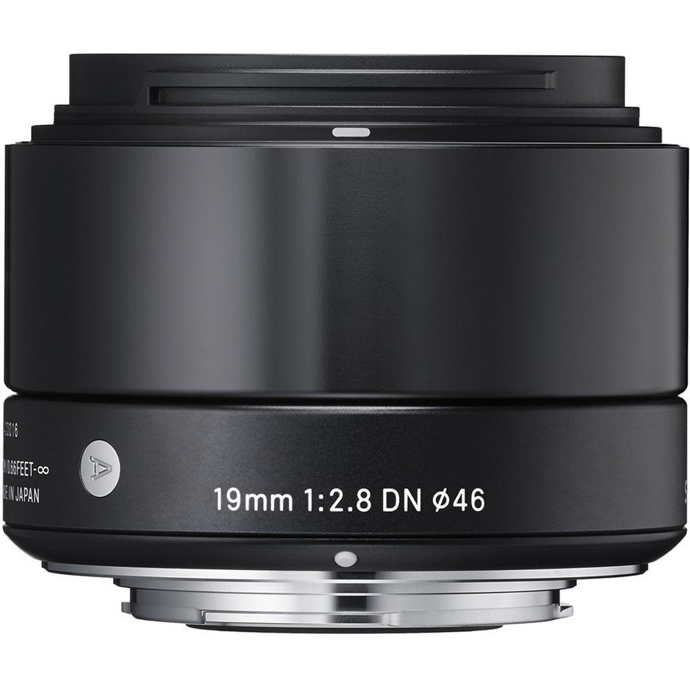 Sigma 19mm f/2.8 DN Lens for Micro Four Thirds Cameras (Black)