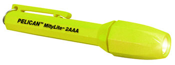 Pelican MityLite 1900T Xenon Flash Light (Yellow)