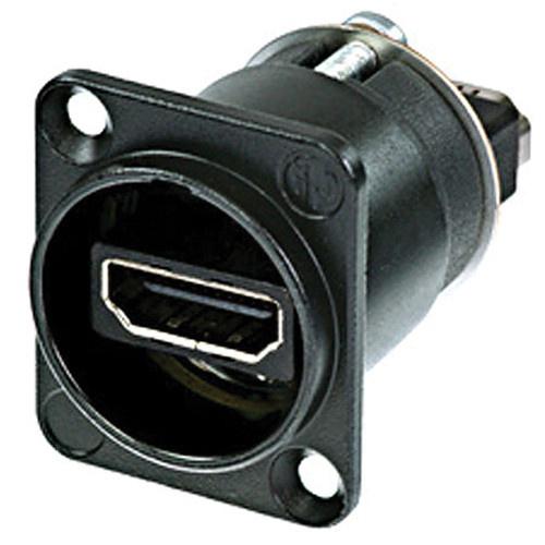 Neutrik NAHDMI-W-B HDMI 1.3 Feed Through Adapter D-Shape Housing IP65 (Black Chromium)