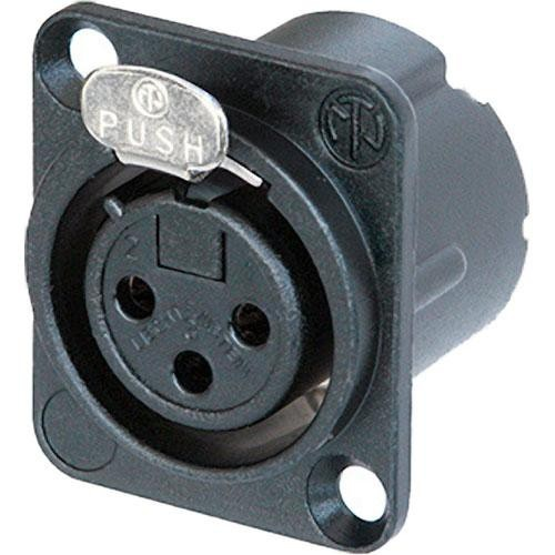 Neutrik NC3FD-LX-B 3-Pin XLR Female Receptacle